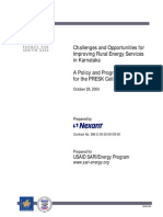 Challenges and Opportunities for Improving Rural Energy Services in Karnataka