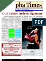 Alpha Times, Anna Nagar 21, June 2009