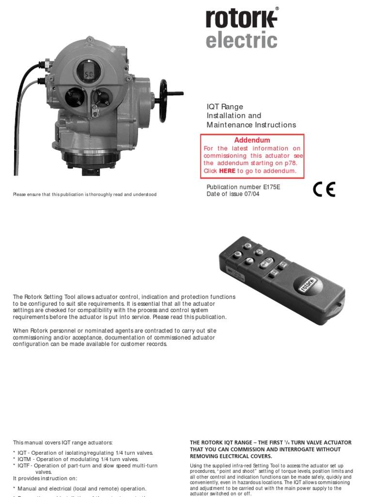 Rotork Actuator Setting Tool Wiring Diagram Custom Mov Diagrams E175e Pdf Valve Screw Rh Scribd Com Catalog Field Terminal