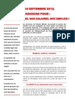 Appel Cheminots Grève 10sept2013
