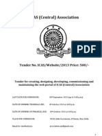 IAS Association Website Tender