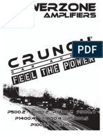 p Series Power Zone 08 Amp Manual