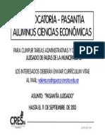 2013-9 CONVOCATORIA Alumnos CsEc - Juzgado de Faltas