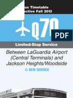 q70 bus timetable