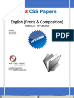 English (Precis & Composition) CSS Past Papers 1971 to 2013 Updated
