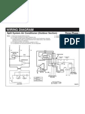 Wiring Diagram-Split System Air Conditioner | Electrical Wiring |  TransformerScribd
