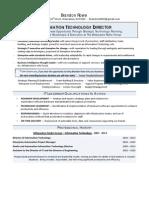 Resume - Brandon Rowe Information Technology 081513