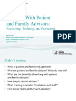 AHRQ Working with Patient and Family Advisors