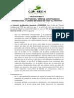 """PR 2013-XXIII Tribunal Constitucional infringe jurisprudencia internacional y genera impunidad en caso """"El Frontón"""""""