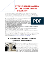 New Apostolic Reformation Is Deceptive