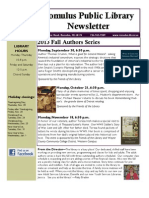 Romulus Library Fall 2013 Newsletter