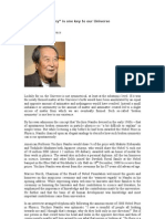 Nobel Prize 2008 for Physics Prof.Yoichiro Nambu