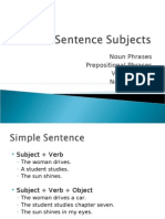 L3, 1.3 Sentence Subjects