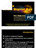 Arabic in the Digital Age - PPT