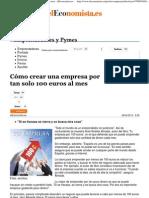 Cómo crear una empresa por tan solo 100 euros al mes - elEconomista
