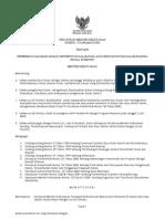 Peraturan Menteri Kehutanan No. 01 Tahun 2004