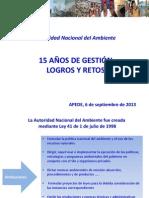 Presentación ANAM en APEDE 6-09-2013
