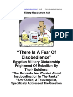 Military Resistance 11I4 the Generals Fear Disobedience