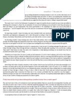 Advice for Newbies - Matrix.pdf