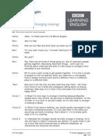 130829 6min Arranging Meetings Audio2 Au Bbc