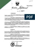 Contración de docente 20011