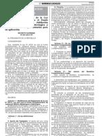 DS-001-2013-TR. Modificación del Reglamento de la Ley 29741