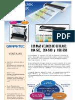 Scanner Gran Formato Graphtec Csx 500 510 530 550