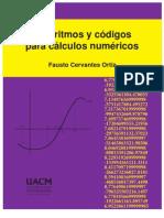 Algoritmos y códigos para cálculos numéricos