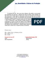 O.E.E. - Calculos de Tempo Quantidade e Indices de Produção