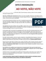 Boicote Ao Voto_nao Vote!