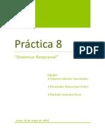 Practica 8. Dinamica Rotacional