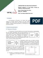 Relatório  laboratório de circuitos eletricos - 5° aula pratica