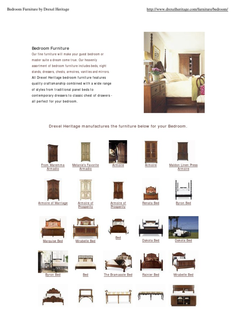 Exceptionnel Bedroom Furniture By Drexel Heritage | Chest Of Drawers ...