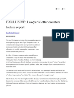Lawyer's Letter Counters Torture Report