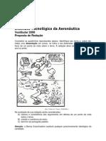 prova de redacao ita 2008