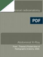 Abdominal Radioanatomy