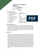 SÍLABO MATEMÁTICA III-ELECTRONICA-2013 pedro