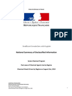 Translated Report on Syrian Chemical Weapons by France Aug 31 2013