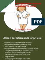 Isu Dan Kecendrungan Masalah Kesehatan Kelompok Lansia