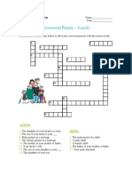 Crossword Puzzle - Family