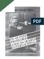 Os Primeiros Quinze Anos Da Quarta Internacional, Leon Trotsky - Port