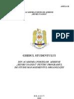 Ghidul Studentului Pentru Specializarea Managementul Organizatiei