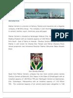 Cement Industry - Maihar Cement (Birla Gold)