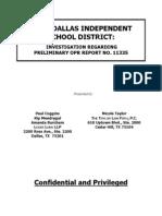 Paul Coggins Report on DISD Superintendent Mike Miles 9.6.2013