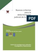 Criterios judiciales para la determinación de la pena