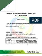 Programacion Dorexpo Bufalos 2012 PDF