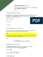 TUDO SOBRE FRAÇÃO (PARTE 01)