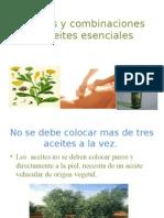 Mezclas o Combinaciones de Aceites Esenciales 2003-2007