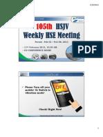 105th HSJV Weekly Meeting