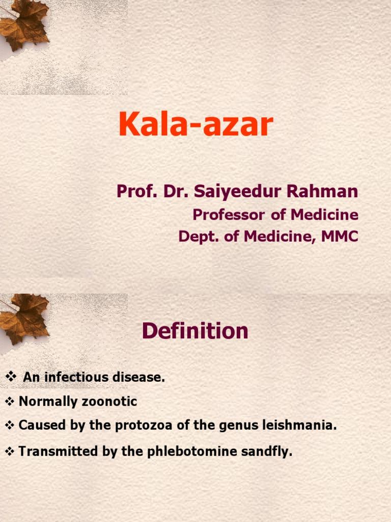 Kala azar treatment ppt